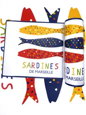 les 4 sets de table sardines de Marseille